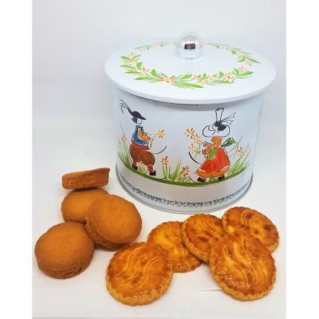 SEAU à biscuits Assortiment de biscuits bretons pur beurre 500g