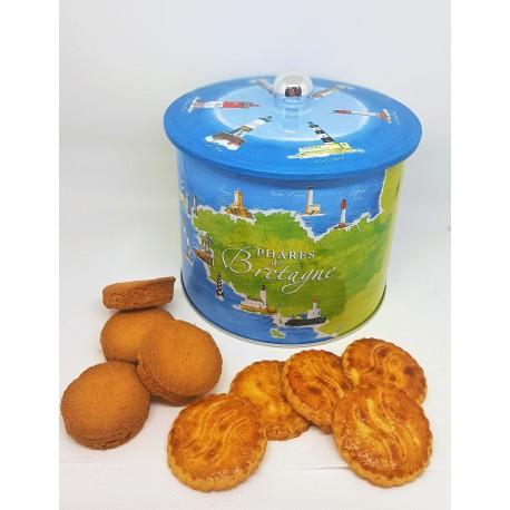 Seau à biscuits FAÏENCE BLEUE 500g